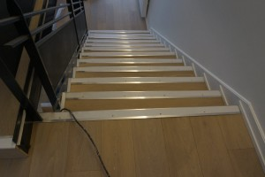 Parquet dans un escalier
